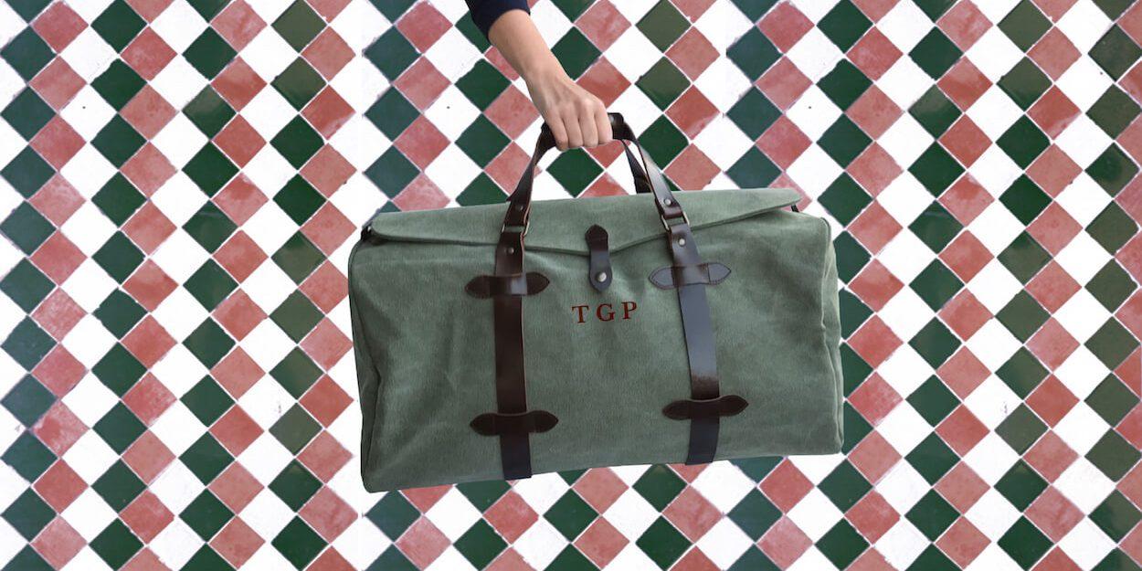 bolsa de viaje de piel