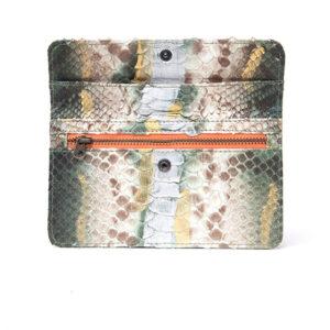cartera de piel de piton de la marca bowaca