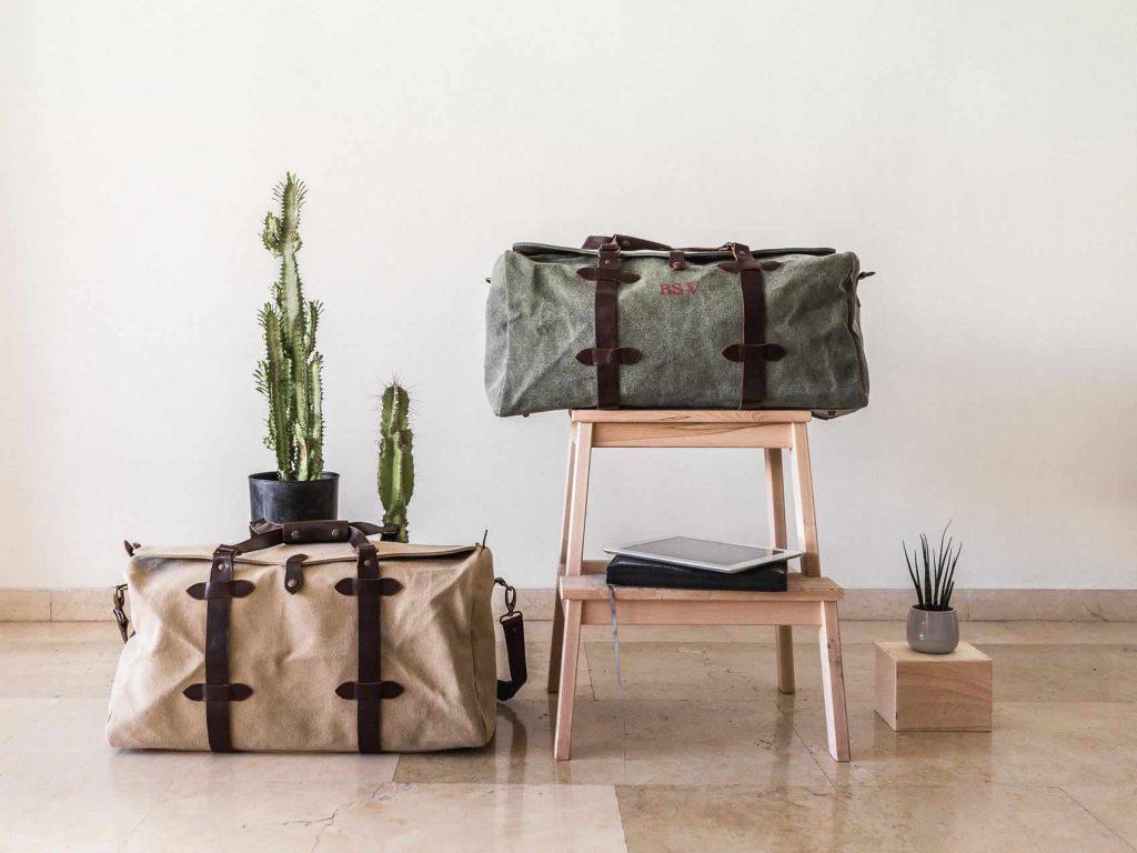 bolsas de viaje personalizables con iniciales