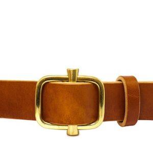 cinturon con hebilla dorada