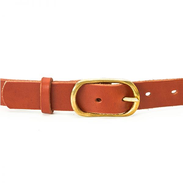 cinturon de piel marron bowaca