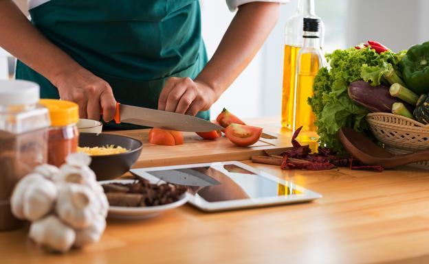 cocina en casa con bowaca