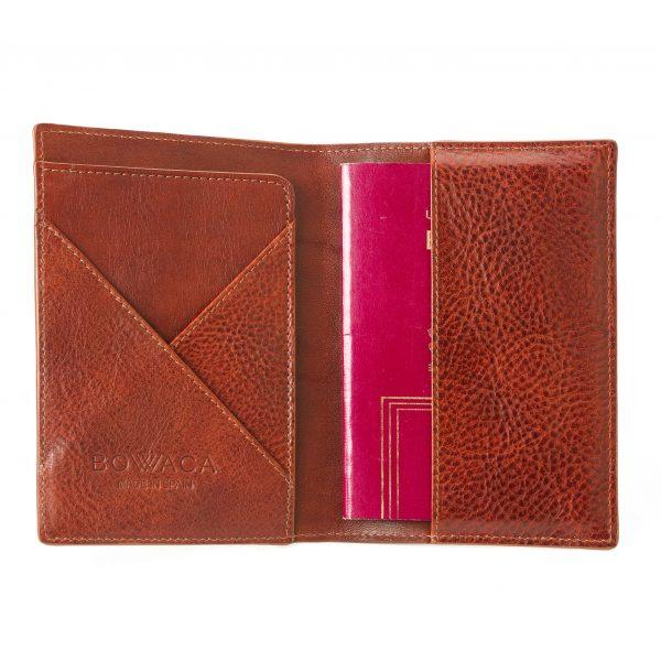 porta pasaporte de piel bowaca