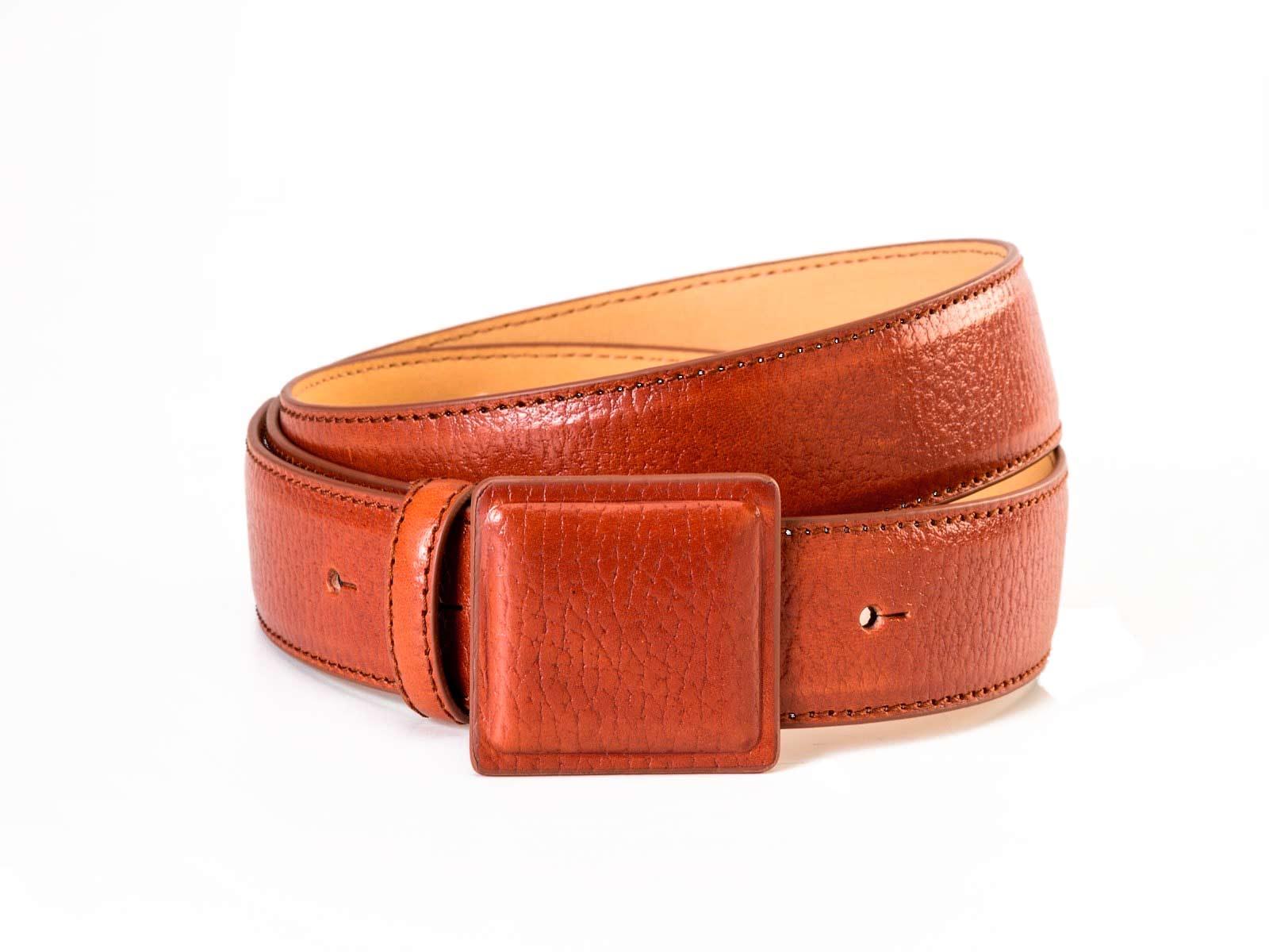 cinturon de cuero marron bowaca